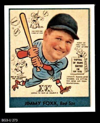 $1.60 • Buy 1938 Goudey Heads-Up Reprint #273 Jimmie Foxx Red Sox 8 - NM/MT