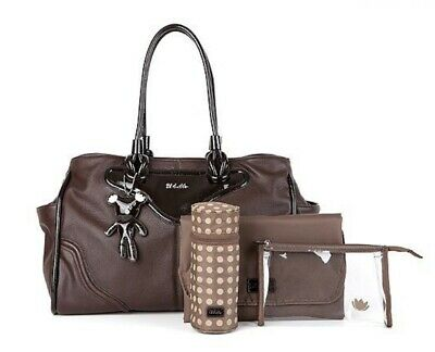 Il Tutto Brigitte Tote Brown Chocolate Luxury Baby Changing Bag NWT SP £149 • 49.50£
