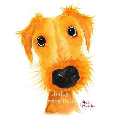 £30 • Buy DOG PRINTS DoG WaLL ART Of Original Painting 'JaCKSoNViLLe MuTTLeY' By SHIRLEY M