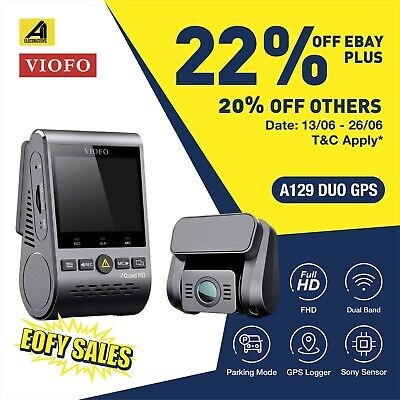 AU209 • Buy Viofo A129 Duo 2Lens 2 Channel Dash Camera Twin SONY Sensr 5GHz WIFI GPS Dashcam