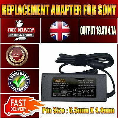 Sony Vaio Vgp-ac19v33 Replacement 90w Techvs Laptop Ac Adapter Charger • 102.69£
