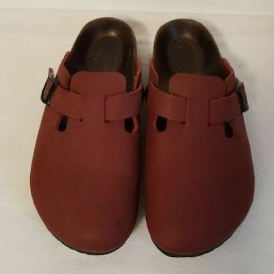 13a8e3f9e2b5 Birkenstock Birkis Boston Red Clogs Womens Size US 8 EU 39 • 55.00