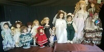 $ CDN189.34 • Buy Vintage Porcelain Doll Lot Of 13