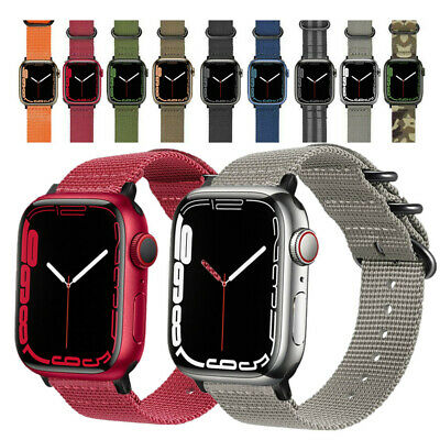 $10.99 • Buy Apple Watch SE Band Military Woven Nylon Strap For IWatch 6 5 4 3 42mm 44/40mm