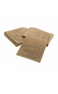 £5.95 • Buy 100x SEAL GUMMED WAGE PACKET ENVELOPE SALARIES SMALL BUSINESS OFFICE STAFF PAY
