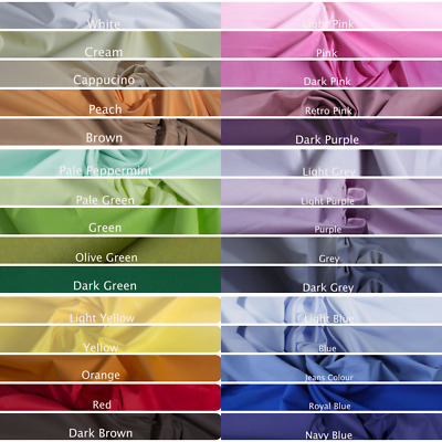 £6.99 • Buy 100% Cotton Fabric 64 Wide By Metre Craft Quilting Colours Plain Sheeting