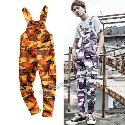 $39.99 • Buy HOT Fashion Men's Camo Suspender Overalls Pants Casual Loose Trousers Jumpsuit