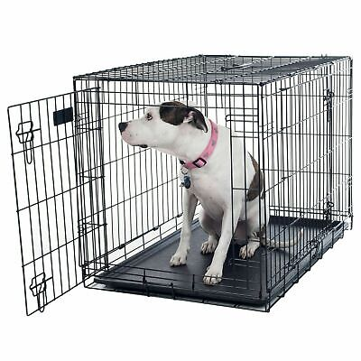 $56.99 • Buy 2 Door Large Metal Dog Cage Crate Divider Wall 36 X 23 X 25 Inches