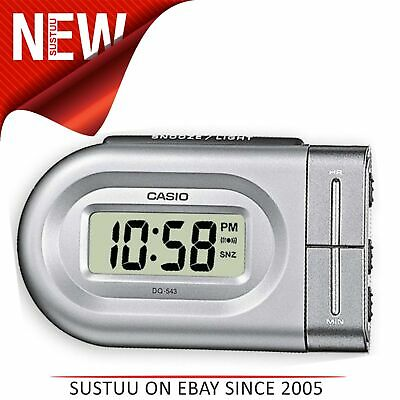 10c4b79795a6 Casio DQ543-8 Bedside Digital Beep Alarm Clock│Snooze + Battery  Included│Silver