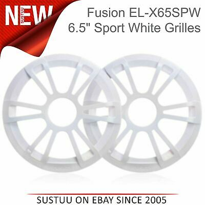 Fusion 6.5  Marine Speakers Replacement Grilles Only - Pair|Fits EL-X65SPW|White • 14.05£