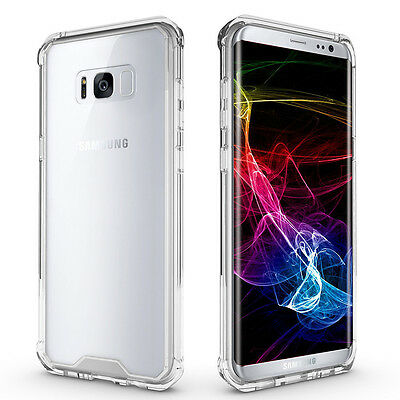 $ CDN7.21 • Buy For Samsung Galaxy S8 Plus Case 360 Shockproof Silicone Clear Gel Cover Skin