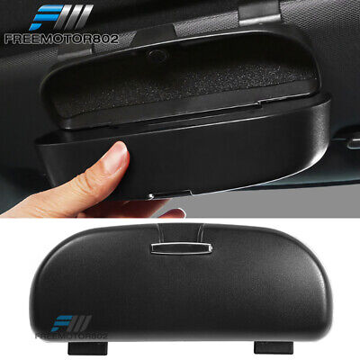 $7.49 • Buy Universal Black Sunglasses Case Holder Organizer Storage Sun Visor Mounted Box
