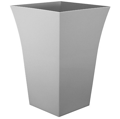 £9.19 • Buy 1x Large GREY Milano Tall Planters Square Plastic Garden Flower Plant Pots