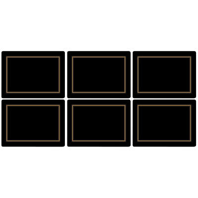 £20.22 • Buy Pimpernel Black Classic - Cork-Backed Placemats - Set Of 6