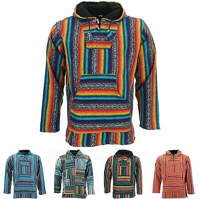 Hoodie Jumper Baja Jerga Drug Rug Hoody Hooded Rainbow Brushed Jacket • 19.90£