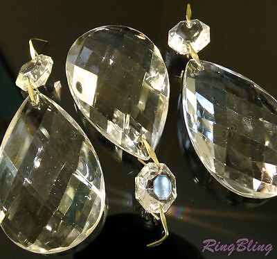 £5.99 • Buy 3 X Replacement Chandelier Crystal Pear Drops Pendeloques Chandelier Spare Parts
