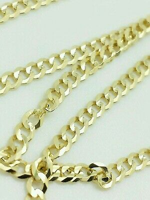 $159.99 • Buy 14K Solid Yellow Gold Cuban Chain Necklace 2.4MM 16  18  20  22  24  26  28  30