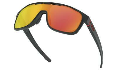 AU159 • Buy Oakley CROSSRANGE SHIELD Sunglasses Matte Black - Prizm Ruby Lens Asian Fit