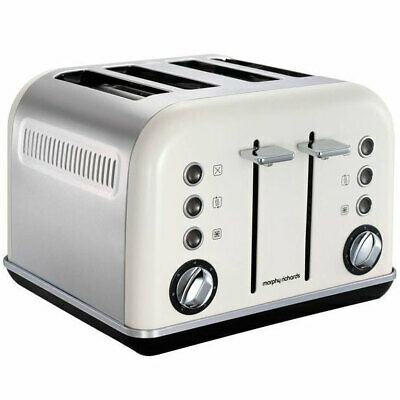 AU69.99 • Buy Morphy Richards Accents 4 Slice Toaster In White 242021