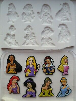 Disney Princess Set Silicone Mould For Cake Toppers, Chocolate, Clay Etc • 7.99£