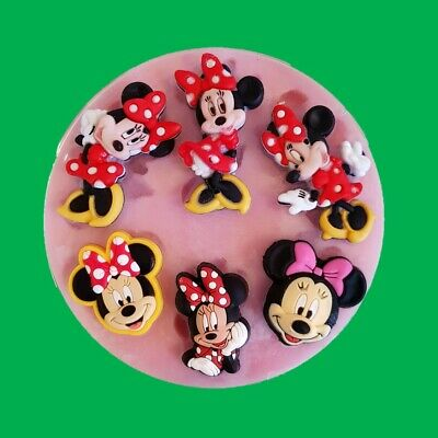 Minnie Mouse Set Silicone Mould For Cake Toppers Chocolate, Clay Etc • 6.99£