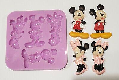 Mickey And Minnie Mouse Silicone Mould For Cake Toppers, Chocolate, Clay Etc • 9.99£