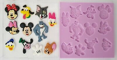 Disney Classics Silicone Mould For Cake Toppers, Chocolate, Clay Etc • 8.99£