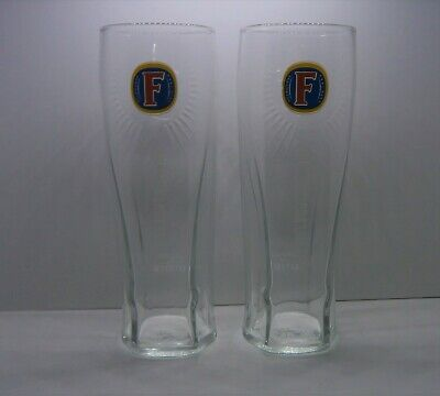 2 X Fosters Lager Pint Glasses  Official Brand ****** FREE POSTING ******** • 6.99£