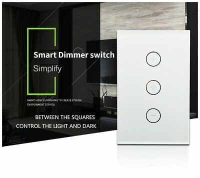 AU26.59 • Buy New Touch Control WiFi Smart Light Dimmer Switch For Dimmable Light Alexa Google