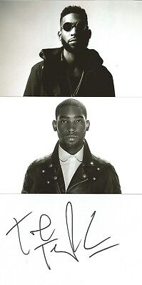 MUSIC* TINIE TEMPAH SIGNED 6x4 WHITECARD+2 UNSIGNED PHOTOS+COA *PASS OUT* • 9.99£