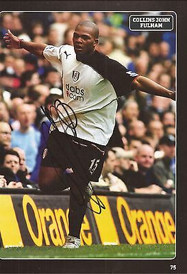 £1.99 • Buy FULHAM: COLLINS JOHN SIGNED A4 (12x8) BOOK/ANNUAL PICTURE+COA