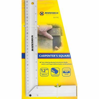 New 12 Inch 300mm Combination Level Set Square Carpenters Measure Measuring Set • 4.89£