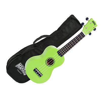 AU39.45 • Buy Mahalo Ukulele MR1LGN Rainbow Series GREEN Soprano UKE Aquila Strings Gig Bag