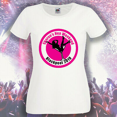 £10.95 • Buy Personalised Ladies Printed Hen T Shirts Hen Do Party Night Bride T-Shirt Custom