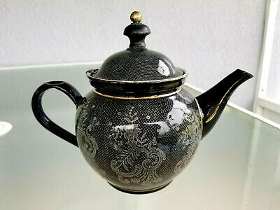 $33.75 • Buy Enamel Teapot Austria W Hanging Tea Ball Great Britain Vintage Elite Fishnet