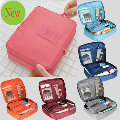 AU7.89 • Buy Travel Cosmetic Storage MakeUp Bag Folding Toiletry Wash Organizer Pouch New