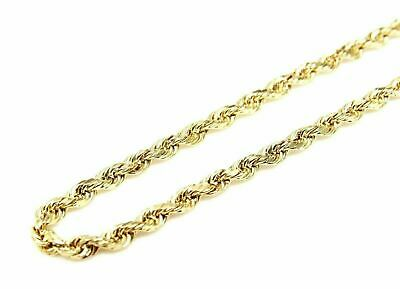 $69.99 • Buy 10K Solid Yellow Gold Diamond Cut Rope Chain 16  18  20  22  24  26  28  30