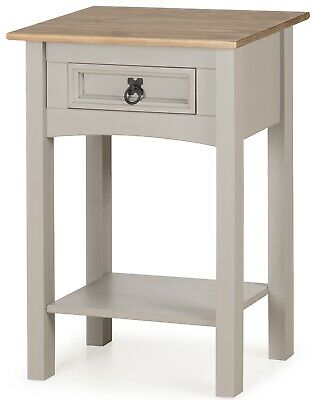 Corona Console Table Grey Wax 1 Drawer Solid Pine Hall By Mercers Furniture® • 39.99£