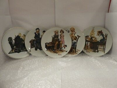 $ CDN22.90 • Buy Lot Of 4 Norman Rockwell Collectible Plates !!!