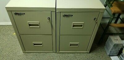 REDUCED - Fireproof - FireKing Turtle 2 Drawer Vertical File Cabinet - Parchment • 490$