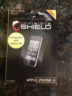 £2.89 • Buy ZAGG Invisible Shield Screen Protector For Apple IPhone 4s 4  Full Body Coverage