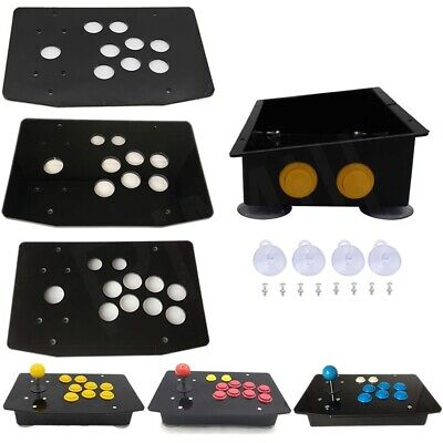 DIY Arcade Joystick Acrylic Panel Inclined Plane Case 24mm/30mm Buttons US Stock • 25.99$
