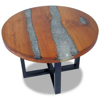 AU199 • Buy Handmade Round Wooden & Resin Living Lounge Room Furniture Coffee Table