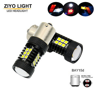 $16.89 • Buy Extremely Bright BA15S P21W White LED Bulbs 1156 S25 7506 Backup Reverse Lights