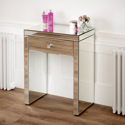£179 • Buy Venetian Mirrored Compact 1 Drawer Console Table - Small Narrow Dressing - VEN16