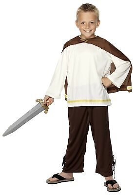 £8.99 • Buy Deluxe Viking Boy Costume Medieval Warrior Saxons Child's Fancy Dress Outfit