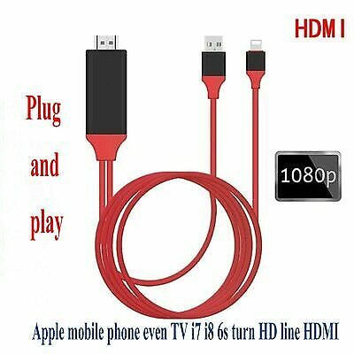 HDMI Cable For IPhone To Projector TV HDMI Cable 1080P HDTV Adapter IPhone X • 9.23£