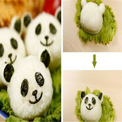 Panda Shaped Rice Mold Seaweed Nori Cutter Sandwich Molds Cooking Accessories 6A • 5.82£
