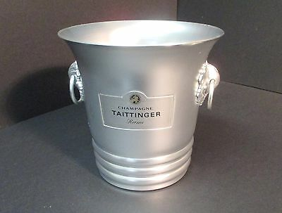 Vintage Taittinger Reims Champagne Ice Bucket Aluminum Made In France • 81£