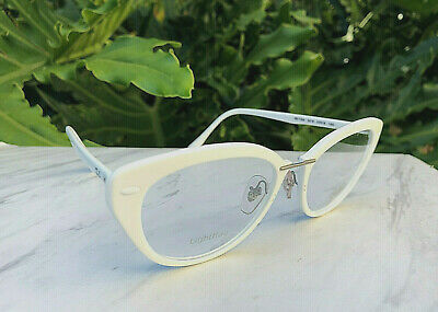 $39.52 • Buy New Ray-Ban LightRay Eyeglasses Cat Eye White Frames RB 7088-5618 Size 52-18-140